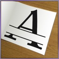 Split Letter Cutting File Collection Preview 2