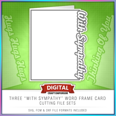 With Sympathy Word Frame Card Set Preview