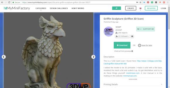 Griffin Sculpture 3D Print by John Bloodworth Gentleman Crafter (10)