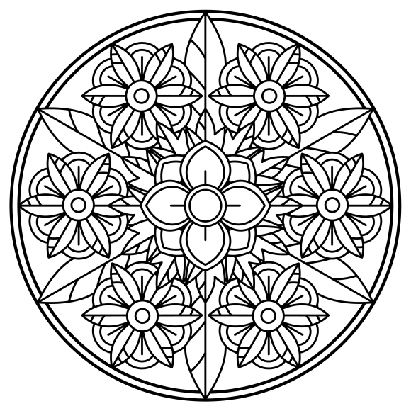 Mandala Monday 68 Free Colouring Sheet To Download-01