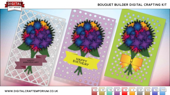 Digital Craft Emporium Bouquet Builder SVG Cutting File Collection Preview 3