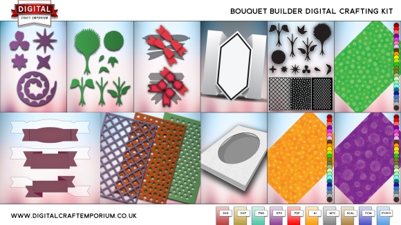 Digital Craft Emporium Bouquet Builder SVG Cutting File Collection Preview