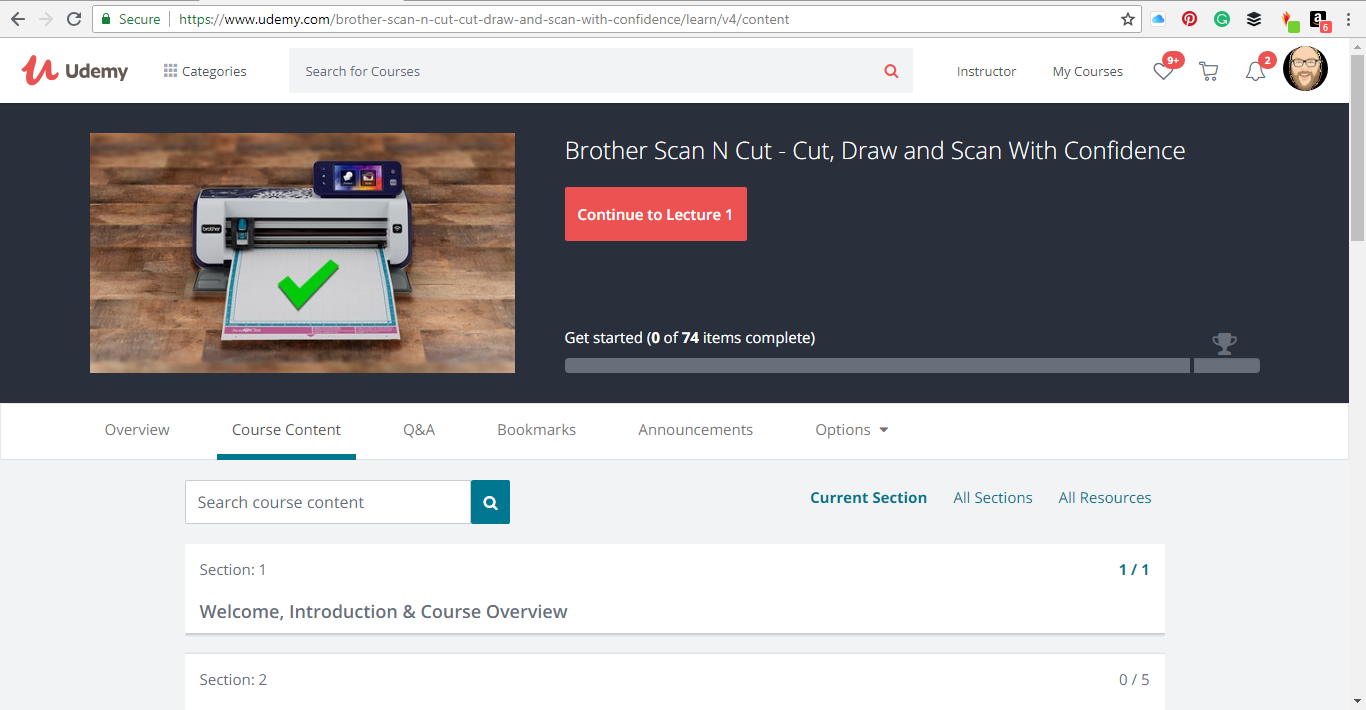 Brother Scan N Cut Online Workshop