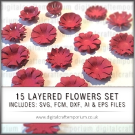 15 LAYERED FLOWERS SET PREVIEW