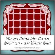2. Mix and Match Art Nouveau Frame Set Preview