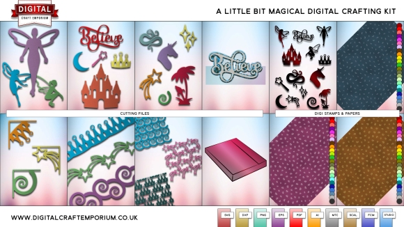 A Little Bit Magical SVG and DXF Cutting Files Collection Preview