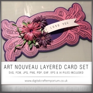 Art Nouveau Fancy Flourish Layered Card Preview