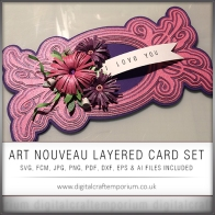 Art Nouveau Fancy Flourish Layered Card Preview