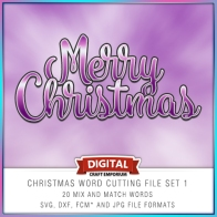 Christmas Word Pack 1 Preview