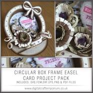 Circular Box Frame Easel Card Preview