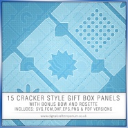 Cracker Style Gift Box Panels Preview