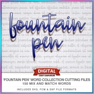 Fountain Pen Word Collection Preview