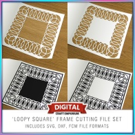Fretwork Frame - Loopy Square