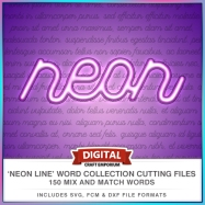 Neon Line Word Collection Preview