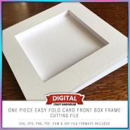 One Piece Easy Fold Box Frame Card Front Preview 1