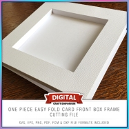 One Piece Easy Fold Box Frame Card Front Preview 2