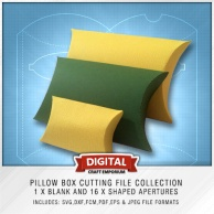 Pillow Box Cutting File Set Preview