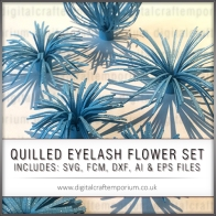 QUILLED EYELASH FLOWER SET PREVIEW