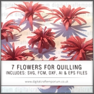SEVEN FLOWERS FOR QUILLING SET PREVIEW