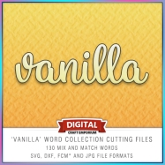 Vanilla Word Cutting Files Preview Image