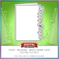 Wedding Word Frame Card Set Preview