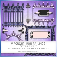 Wrought Iron Railings - Set 1 Preview