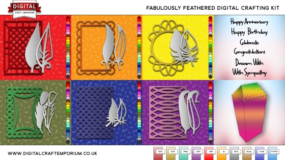 Fabulously Feathered Digital Crafting Collection Including