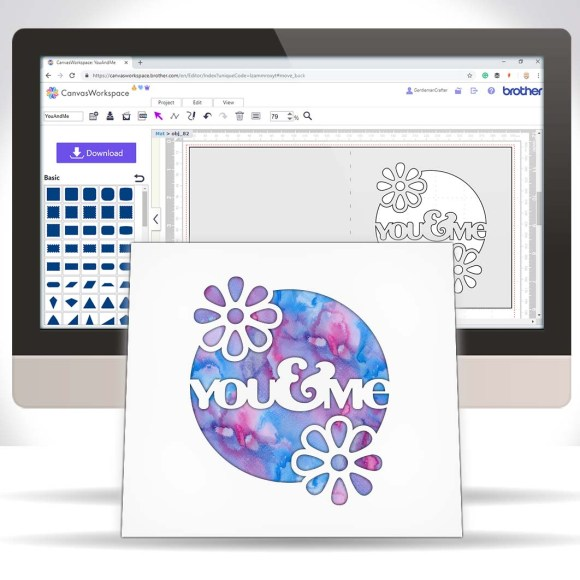 Designing A Cut Front Greetings Card In Canvas Workspace For The Brother Scan N Cut