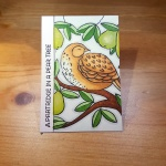 1 Partridge In A Pear Tree Artist Trading Card by John Bloodworth Gentleman Crafter