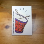 12 Drummers Drumming Artist Trading Card by John Bloodworth Gentleman Crafter