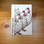 3 French Hens Artist Trading Card by John Bloodworth Gentleman Crafter