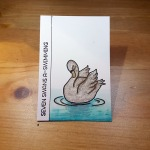 7 Swans Swimmings Artist Trading Card by John Bloodworth Gentleman Crafter