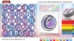 Alpha Cards Digital Cutting File Collection Preview Large