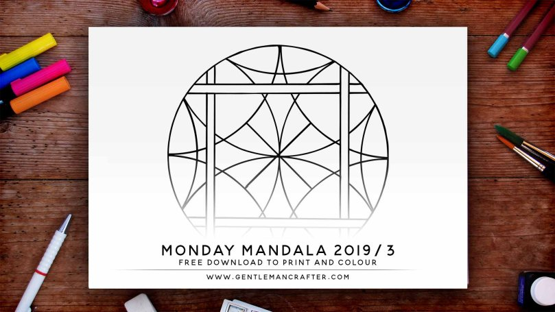 Mandala Monday Hand Drawn Mandala To Download And Colour Preview 2019 3