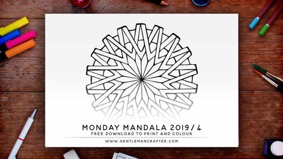 Mandala Monday Hand Drawn Mandala To Download And Colour Preview 2019 4