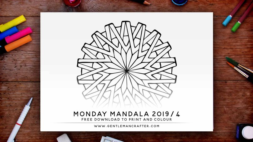 Mandala Monday Hand Drawn Mandala To Download And Colour Preview 2019 4