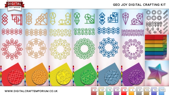 Geo Joy Cutting File Collection Preview