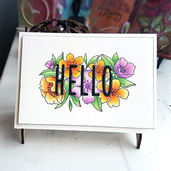 Greetings Card Mama Elephant Botanic Hello John Bloodworth Gentleman Crafter (13)