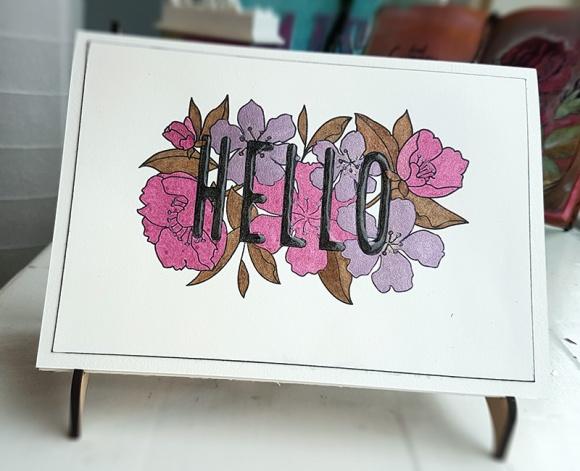 Greetings Card Mama Elephant Botanic Hello John Bloodworth Gentleman Crafter (14)