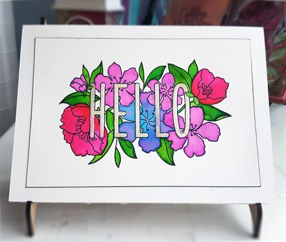 Greetings Card Mama Elephant Botanic Hello John Bloodworth Gentleman Crafter (16)