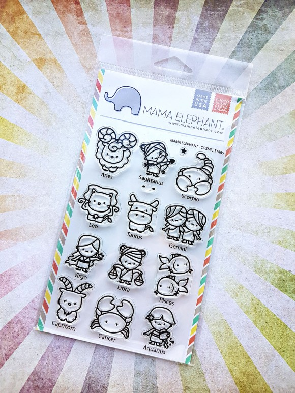 Cosmic Stars Zodiac Stamps by Mama Elephant