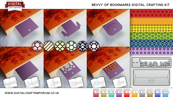 bookmark bundle cutting file set preview largee
