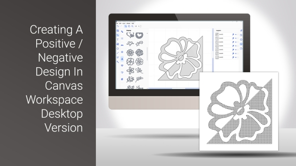 designing a positive and negative drawn design in canvas workspace desktop version