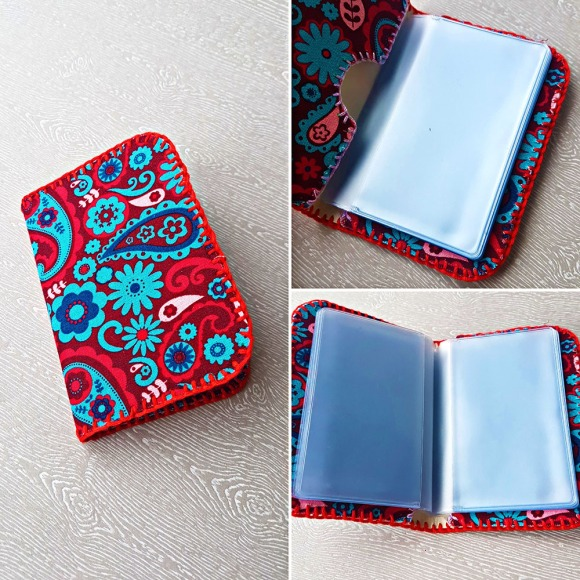 Handsewn Loyalty Card Wallet Cut With Scan N Cut by John Bloodworth Gentleman Crafter (1)