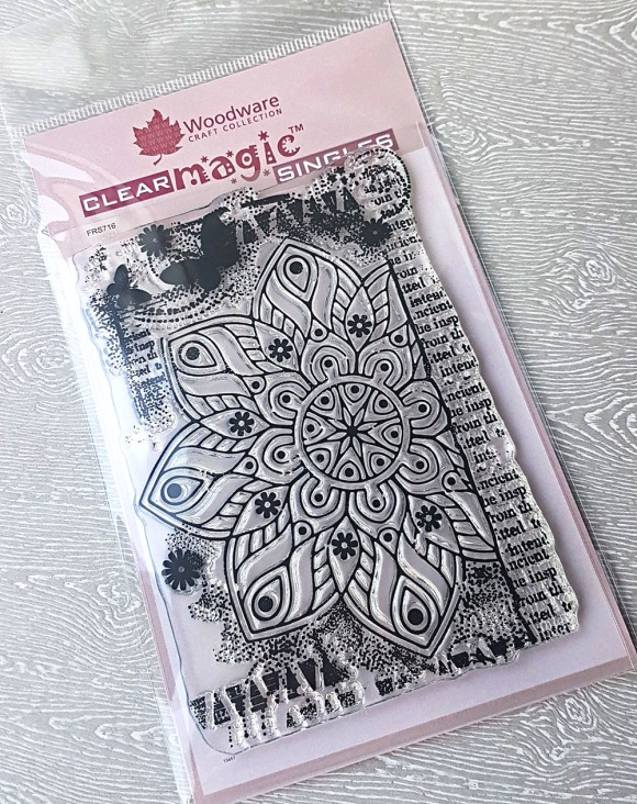 Magical Mandala Hand Stamped Greeting Card by John Bloodworth Gentleman Crafter (1)
