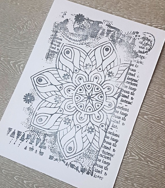 Magical Mandala Hand Stamped Greeting Card by John Bloodworth Gentleman Crafter (2)