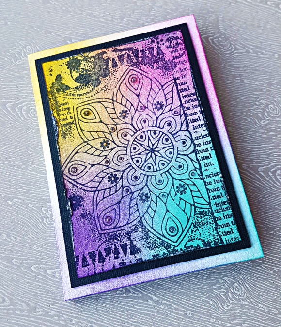 Magical Mandala Hand Stamped Greeting Card by John Bloodworth Gentleman Crafter (3)