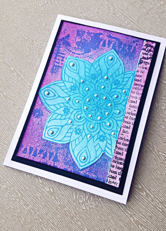 Woodware Ancient Mandala Card by John Bloodworth Gentleman Crafter (2)
