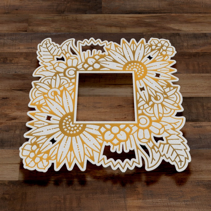 Couture Creations John Bloodworth Cut Foil and Emboss Die Preview Floral Frame