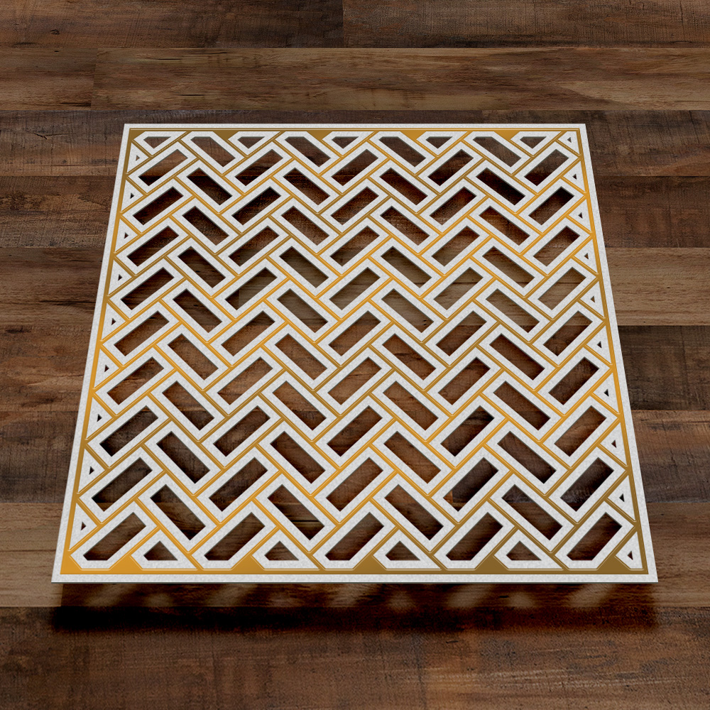 Couture Creations John Bloodworth Cut Foil and Emboss Die Preview Parquet Tiles